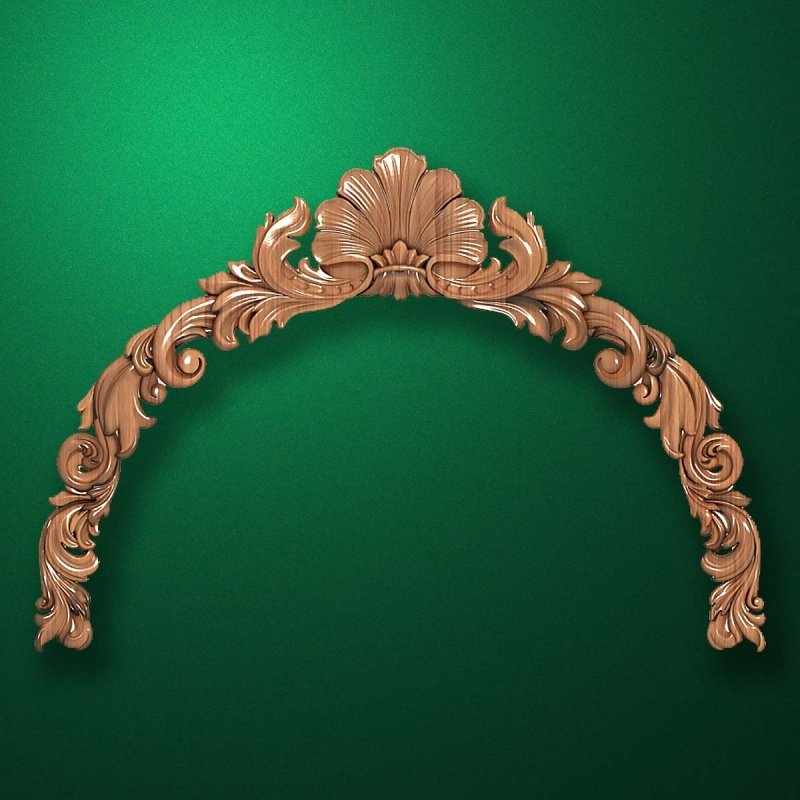 "Carved wood decor ""Arched element-003"""