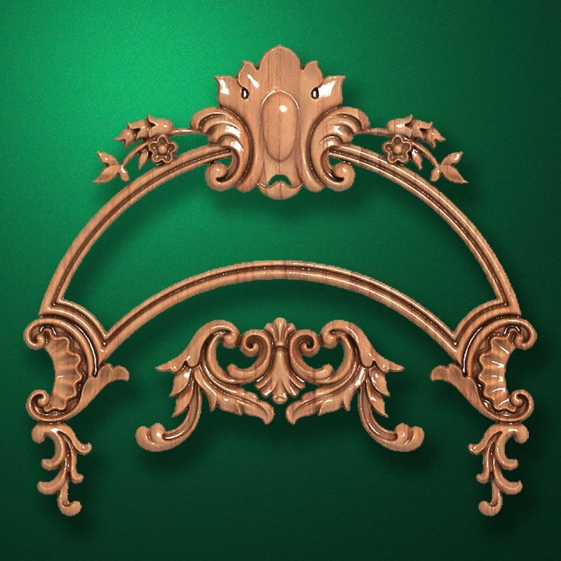 "Carved wood decor ""Arched element-004"""