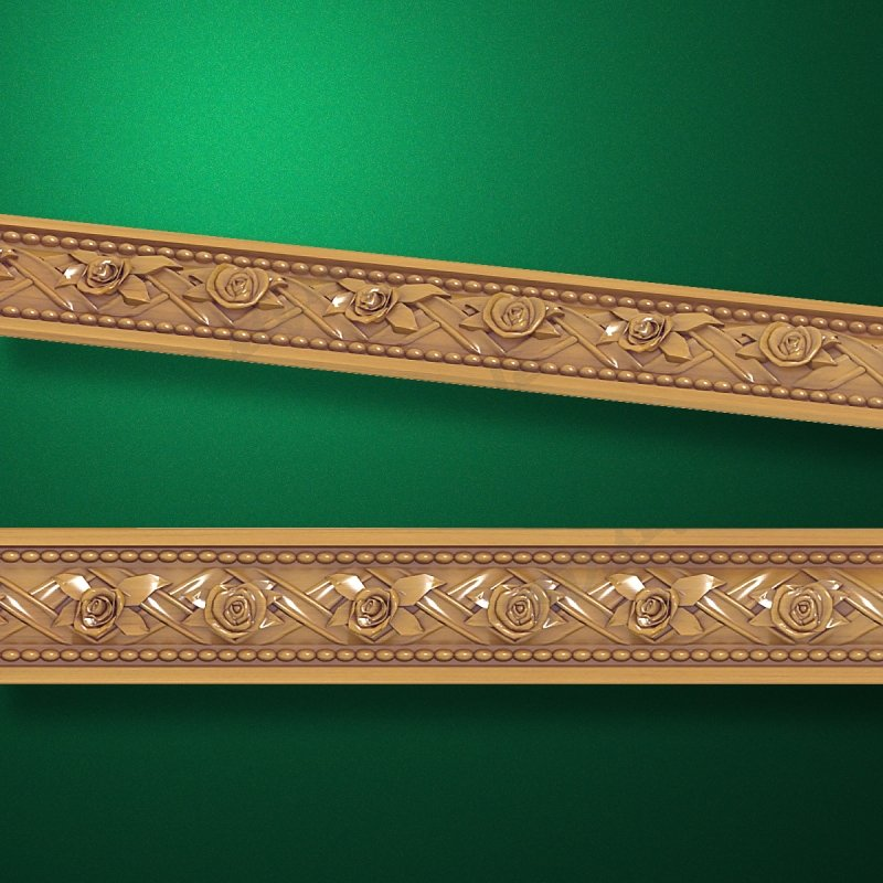 3D style - Carved wood molding - Molding-003  Mouldings for frames