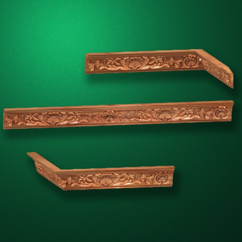 """Wood carved moldings """"Moldings-030"""""""