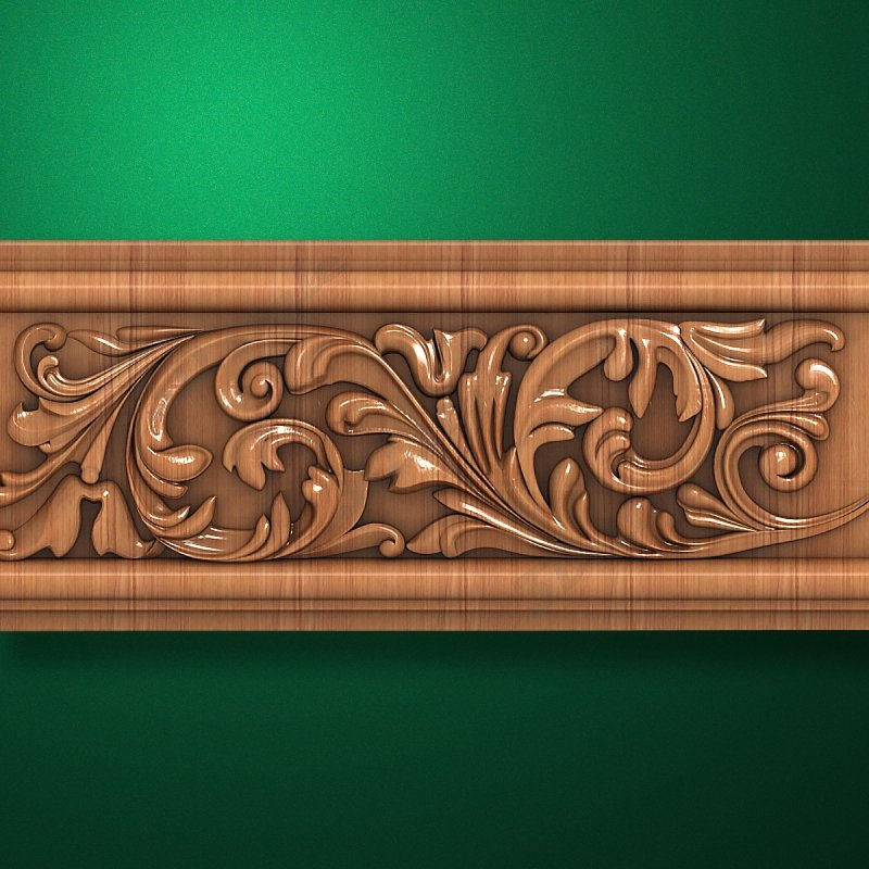 3D style - Carved wood molding - Molding-046  Mouldings for frames