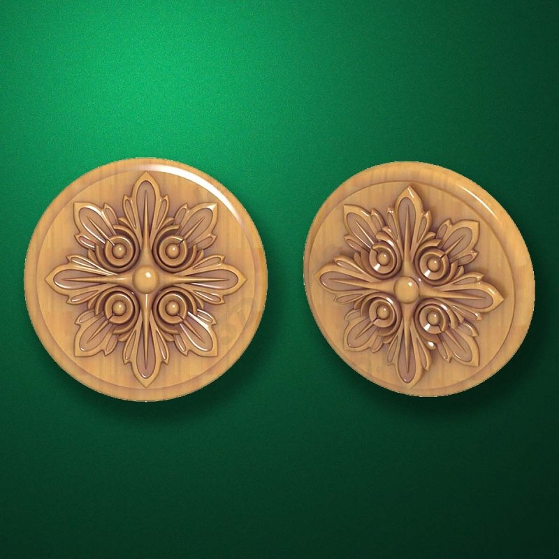 "Carved wood decor ""Central element-003"""