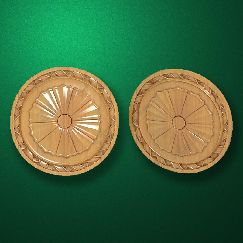 "Carved wood decor ""Central element-015"""