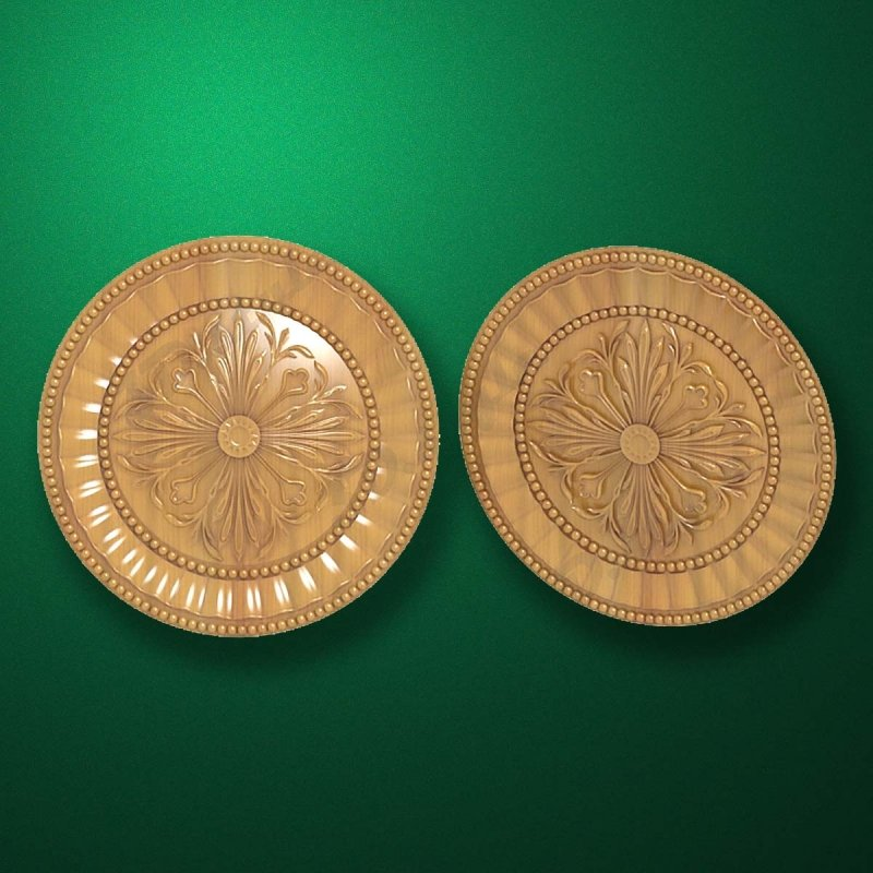 "Picture - Carved wood decor ""Central element-020"""