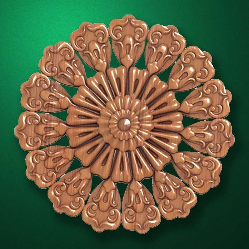"Picture - Carved wood decor ""Central element-022"""