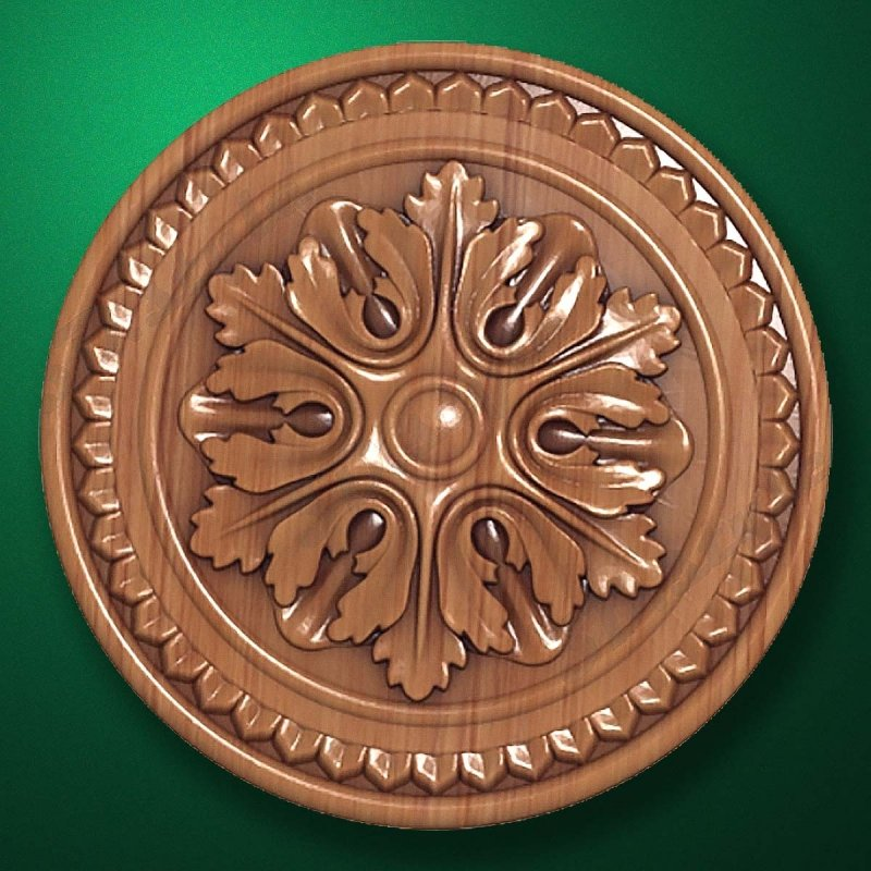 "Picture - Carved wood decor ""Central element-023"""
