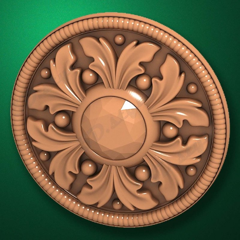 "Carved wood decor ""Central element-024"""