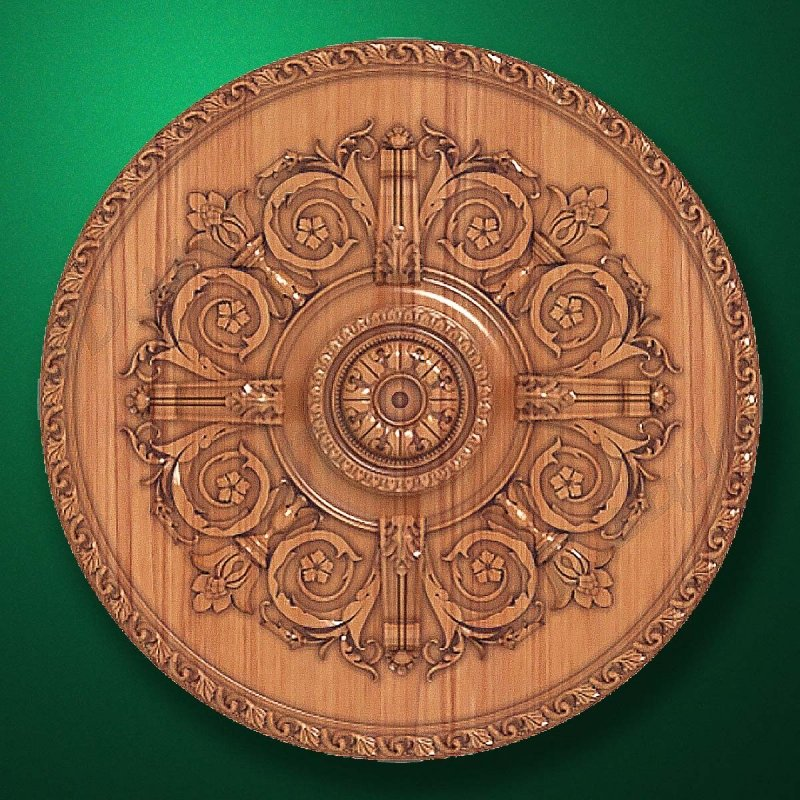 "Carved wood decor ""Central element-026"""