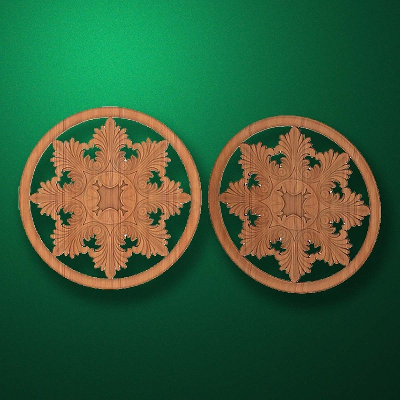 "Picture - Carved wood decor ""Central element-027"""