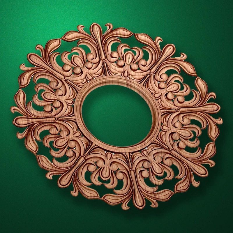 "Carved wood decor ""Central element-029"""