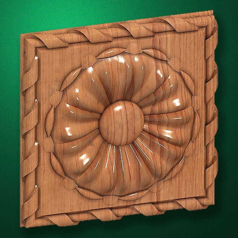 "Picture - Carved wood decor ""Central element-038"""