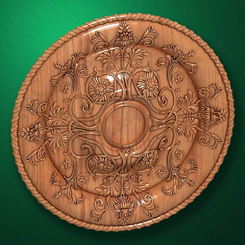 "Picture - Carved wood decor ""Central element-041"""