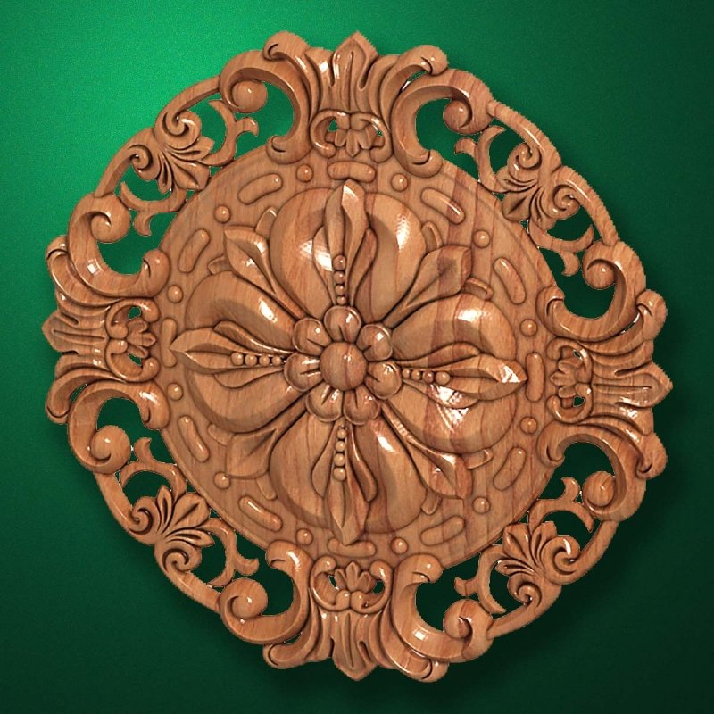 "Picture - Carved wood decor ""Central element-042"""