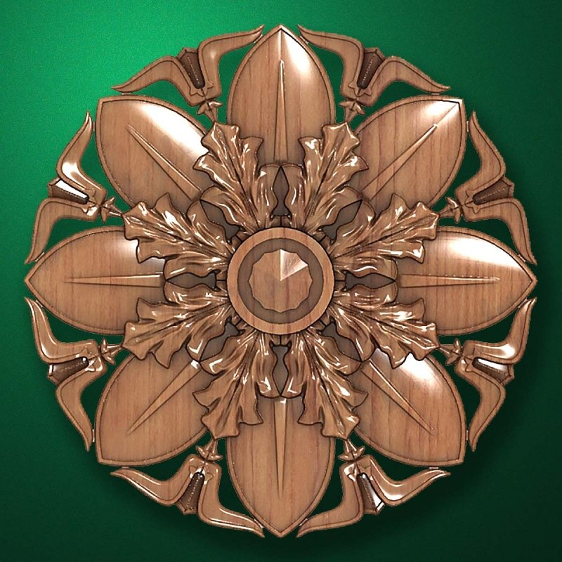 "Picture - Carved wood decor ""Central element-048"""