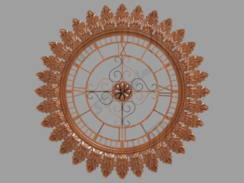 Onlay for the wall clock