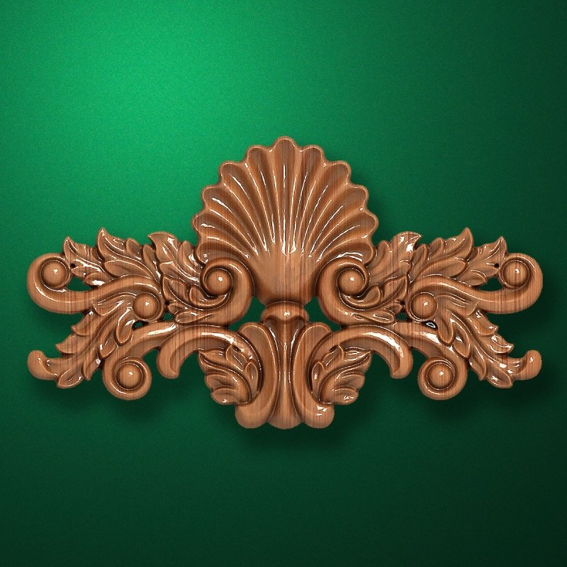 Picture - Carved wooden or MDF decorative onlay for furniture. Code 13503