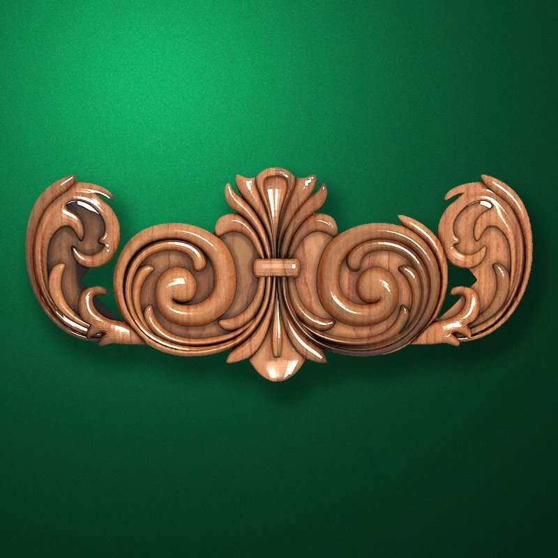 Carved wooden or MDF decorative onlay for furniture. Code 13510