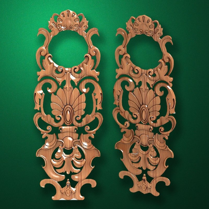 Picture - Carved wooden or MDF decorative onlay for furniture. Code 13520