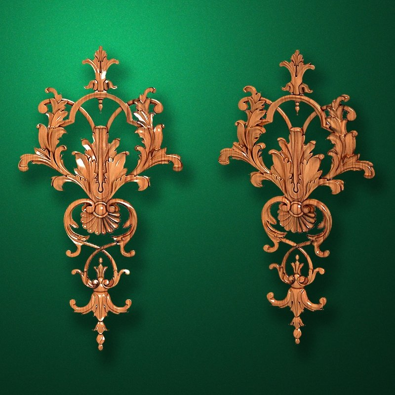 Carved wooden or MDF decorative onlay for furniture. Code 13523