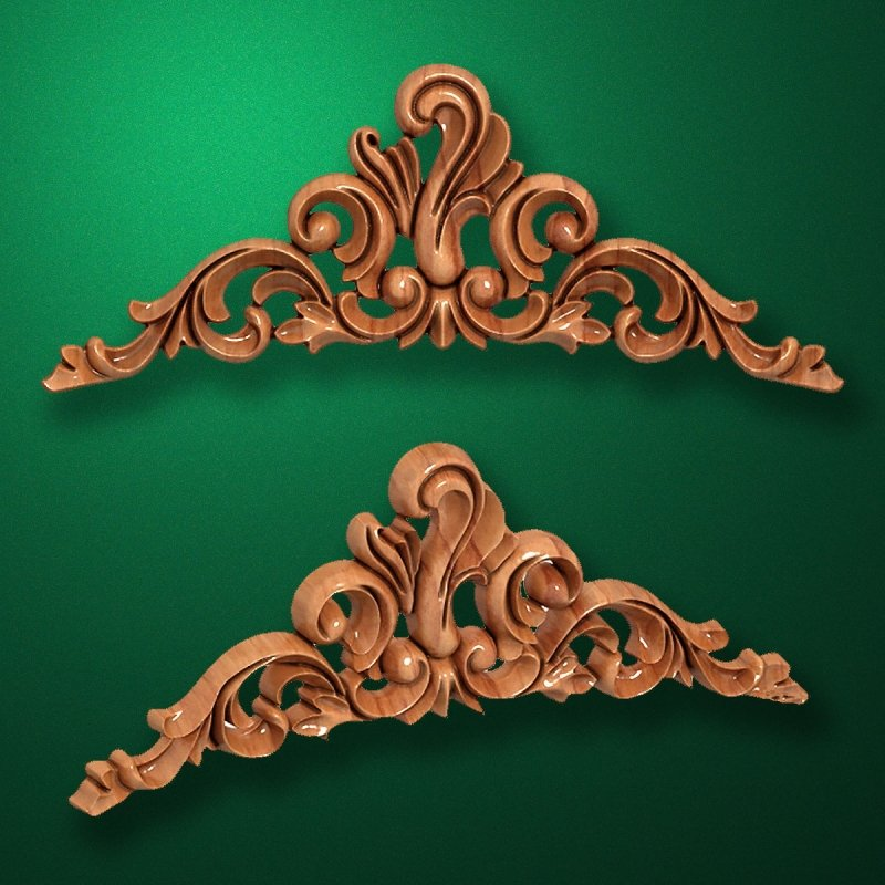 Picture - Carved wooden or MDF decorative onlay for furniture. Code 13525