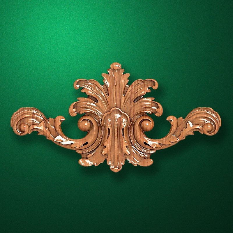 Carved wooden or MDF decorative onlay for furniture. Code 13526