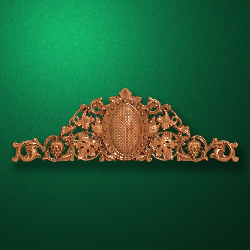 Carved horizontal wooden or MDF decorative onlay. Code 14005