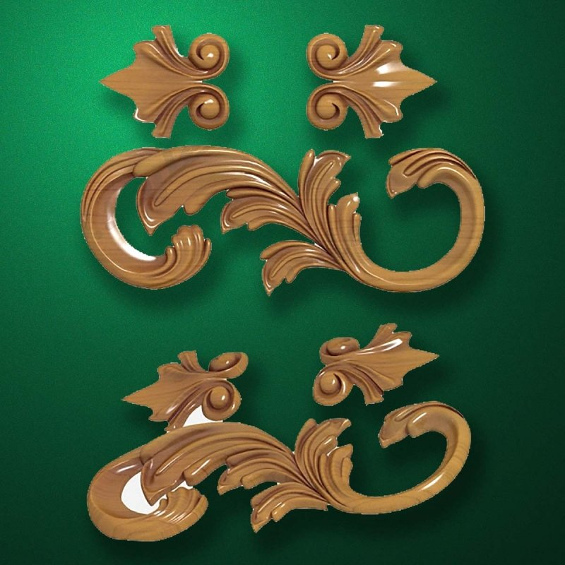 "Picture - Carved wood decor ""Corner element-002"""