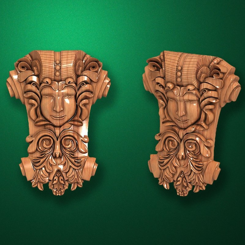 "Picture - Carved ""Capital-017"""