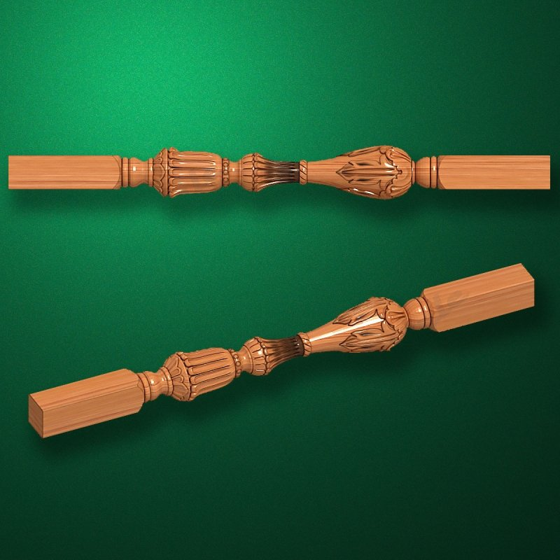 """Carved from wood """"Baluster-005"""""""