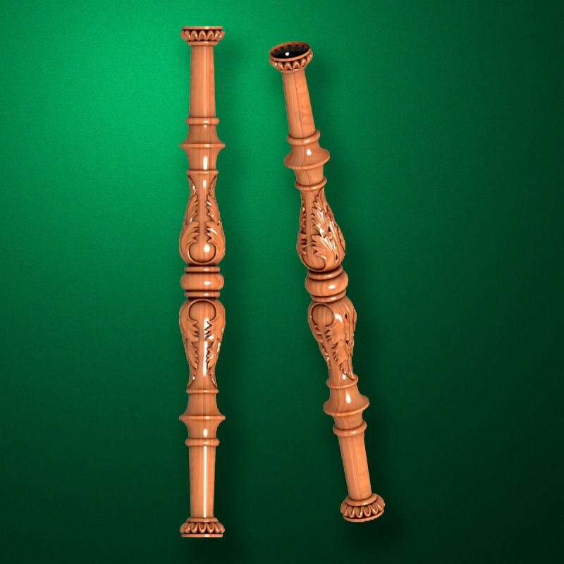 "Carved from wood ""Baluster-014"""