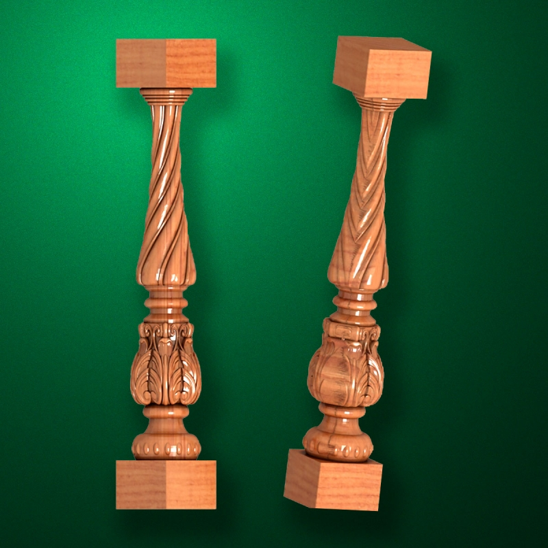 """Carved from wood """"Baluster-019"""""""