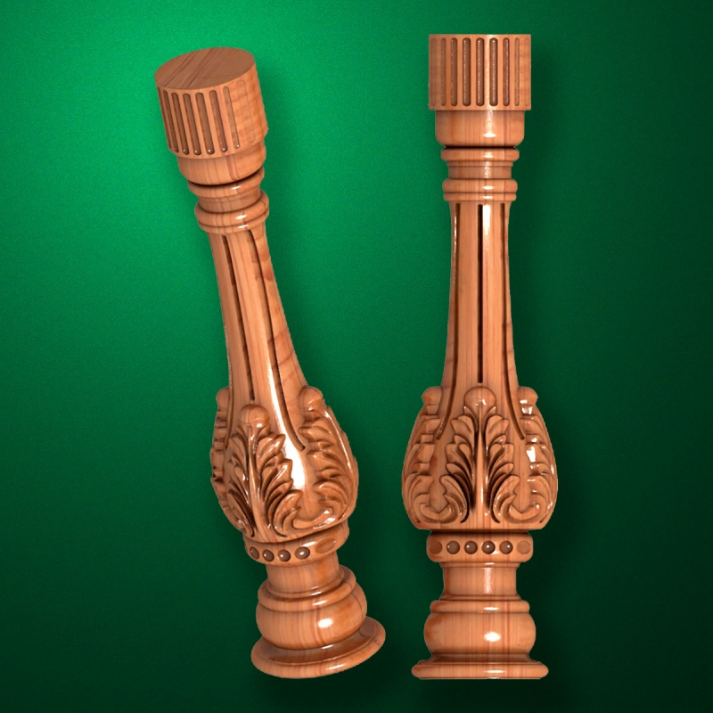 """Carved from wood """"Baluster-024"""""""