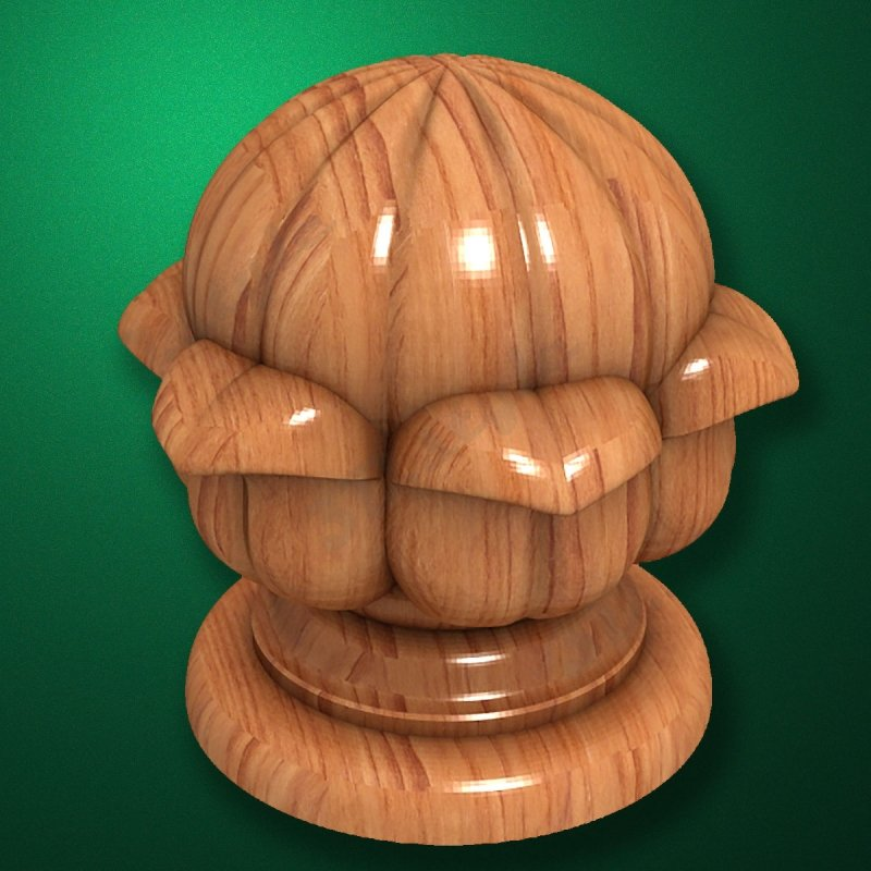 """Carved from wood """"Topping-001"""" for the stairs newels"""