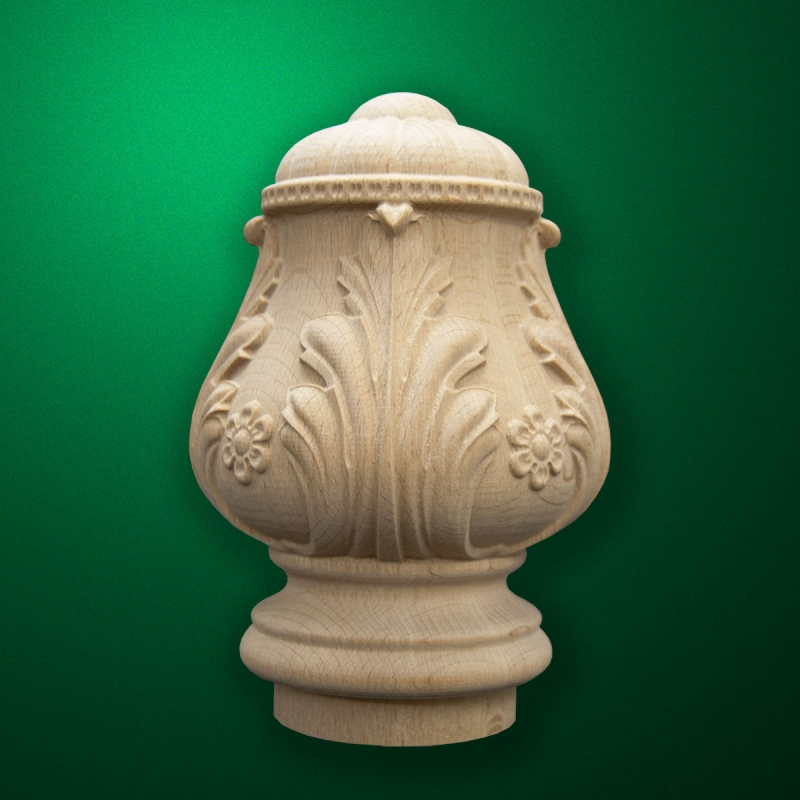 """Carved from wood """"Topping-006"""" for the stairs newels"""