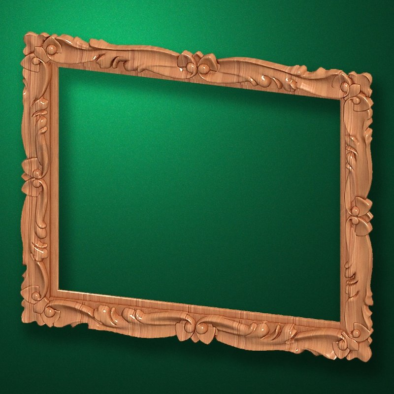 "Carved wood frame  ""Rectangular frame-016"""