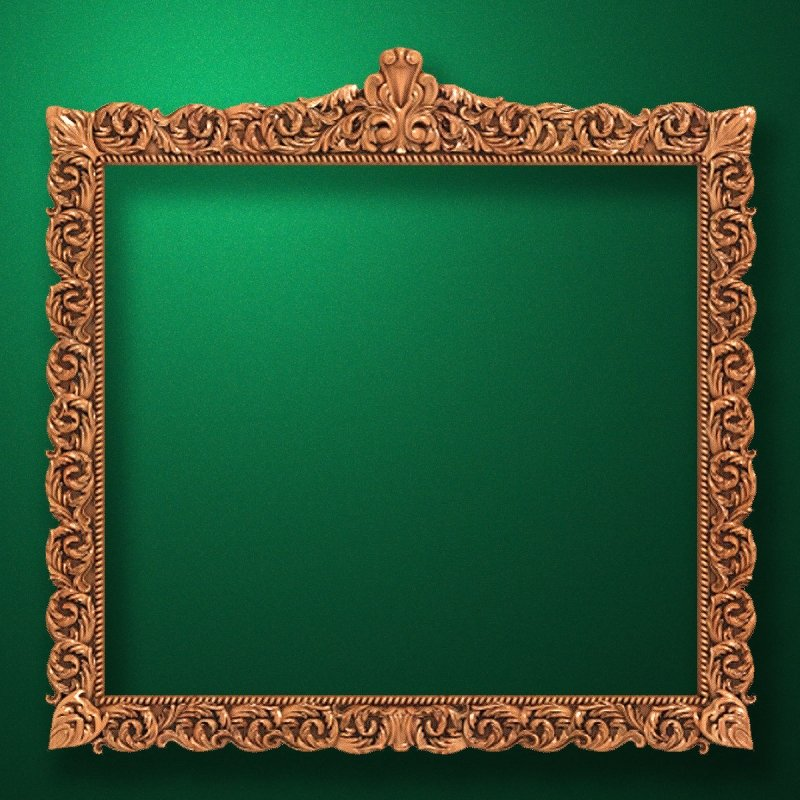 "Carved wood frame  ""Rectangular frame-022"""