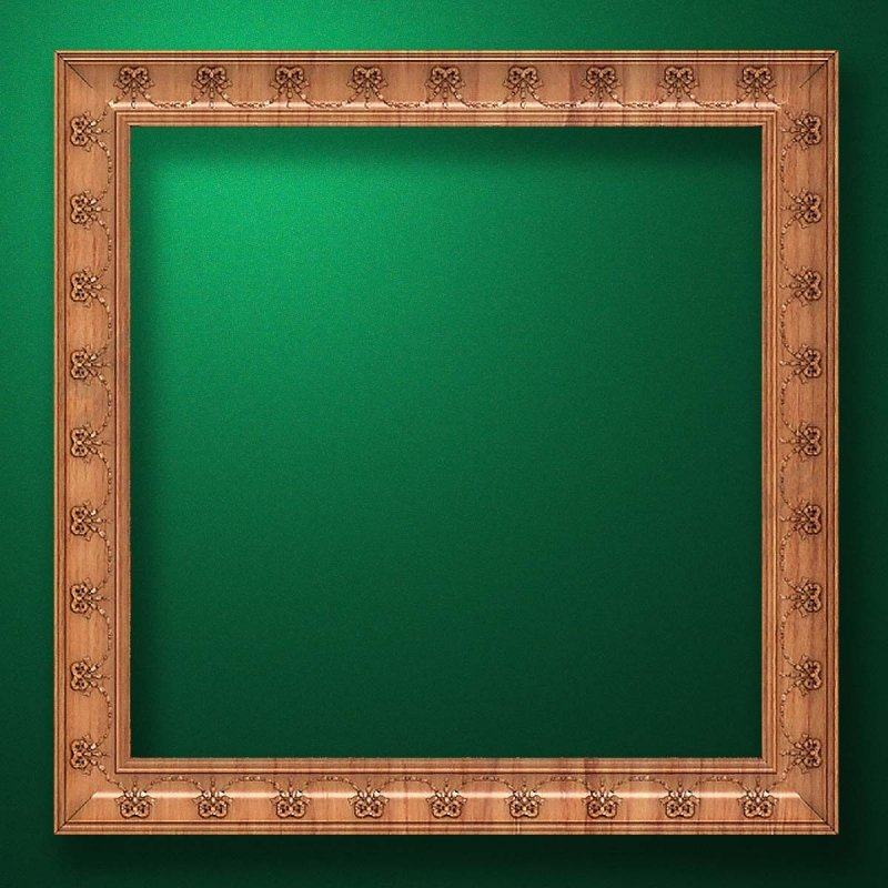 "Carved wood frame  ""Square frame-010"""