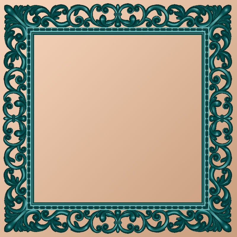"Carved square frame ""Air elegy"""