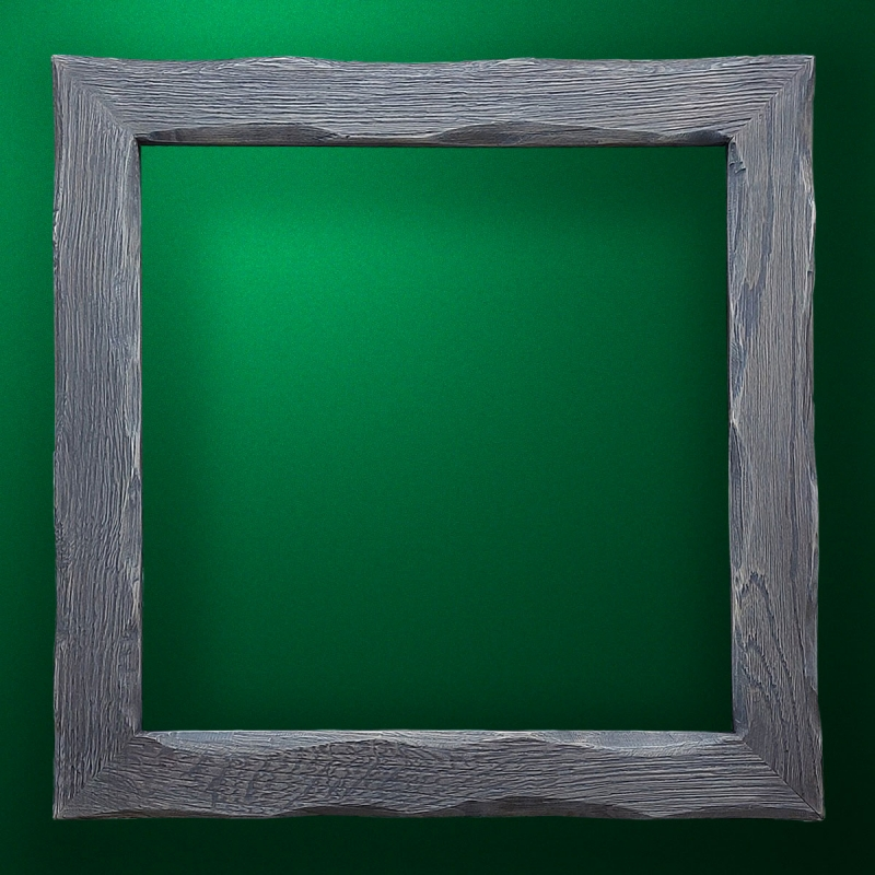 "Carved wood frame  ""Square frame-015"""