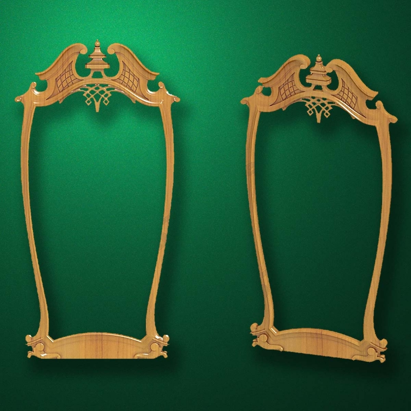 "Carved wood frame  ""Stylish frame-003"""