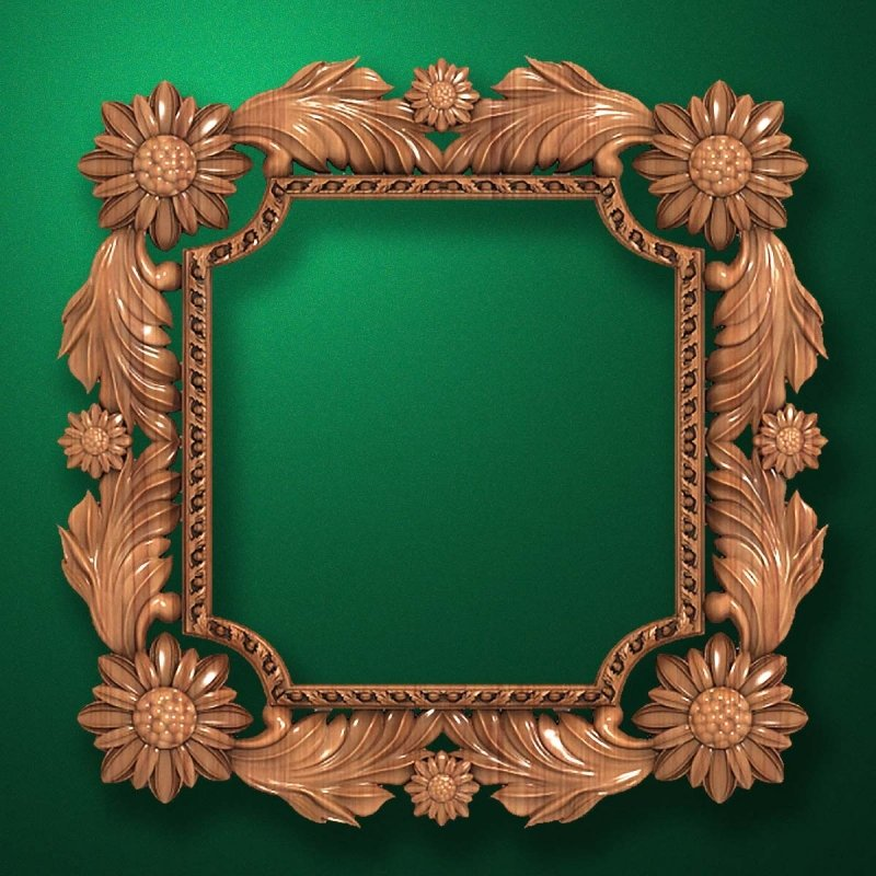 "Carved wood frame  ""Stylish frame-004"""