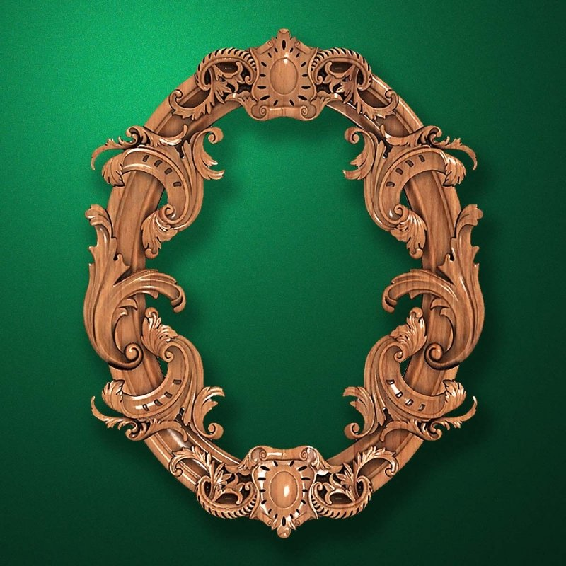 "Carved wood frame  ""Stylish frame-006"""