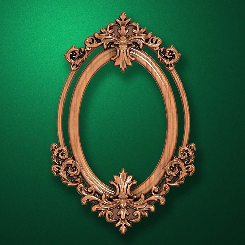 "Carved wood frame  ""Stylish frame-018"""