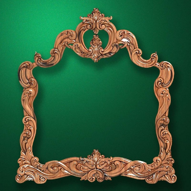 "Carved wood frame  ""Stylish frame-020"""