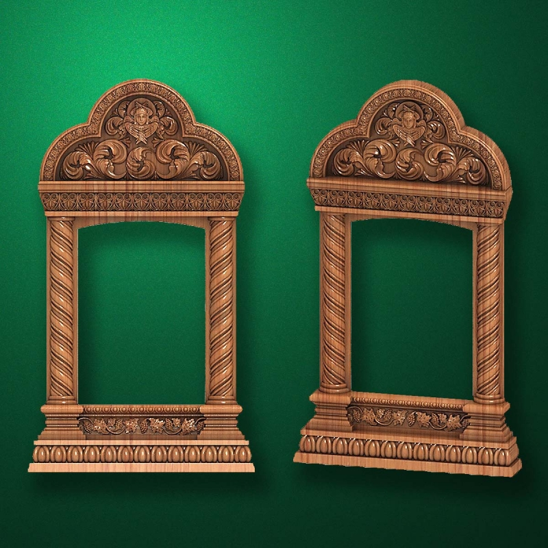 "Wooden carved ""Icon case-007"""