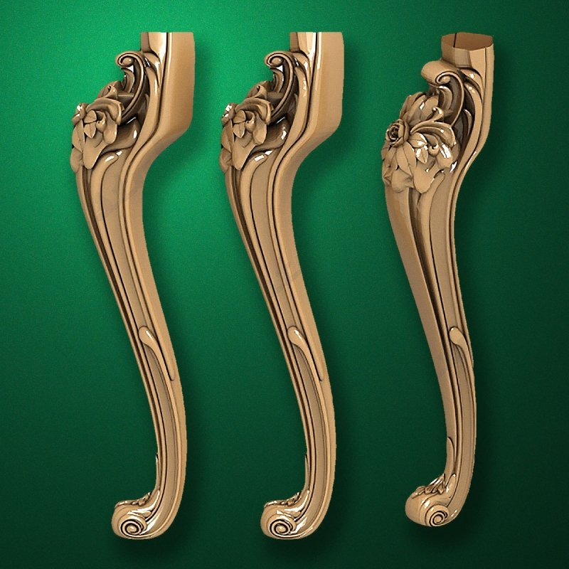 Image - Caved wooden legs for furniture (Code 50018)