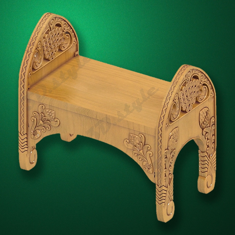 """Carved """"Bench-003"""" for Bathhouses-Saunas"""
