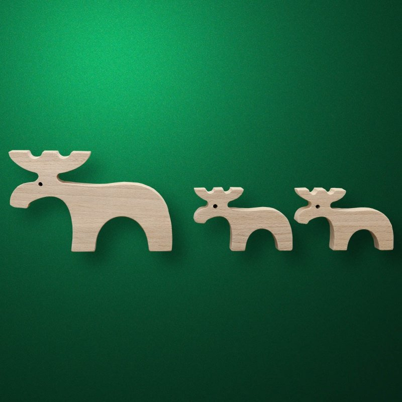 """Toy of wood of """"Moose"""""""