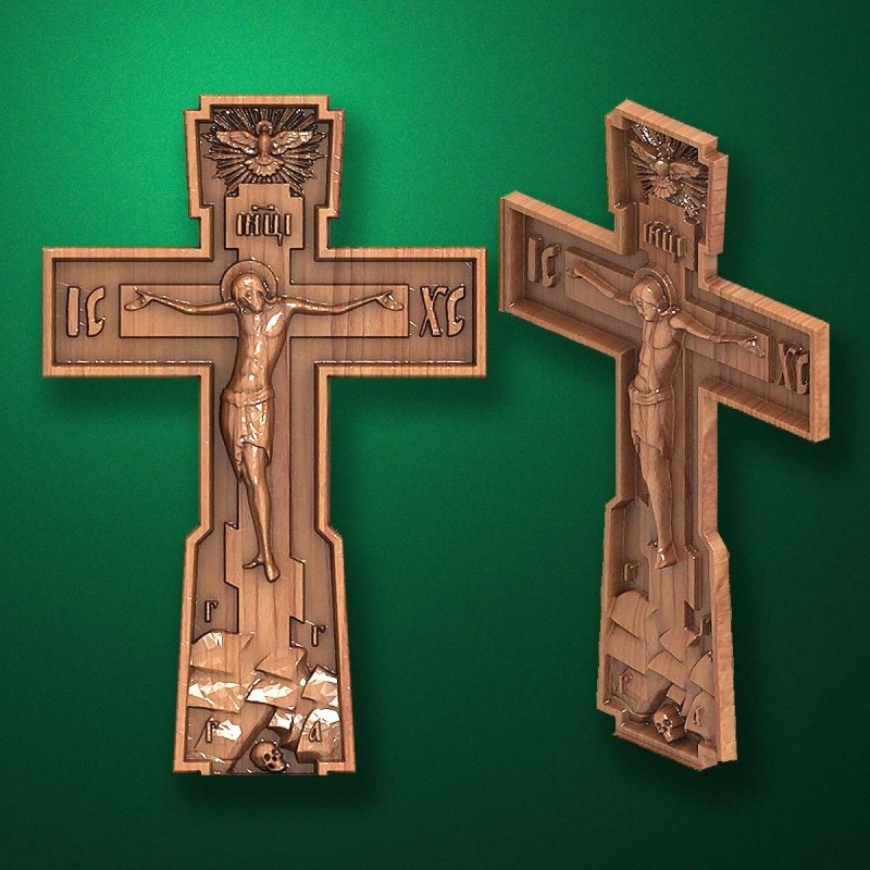 "Carved cross ""Cross Crucifix-001"""