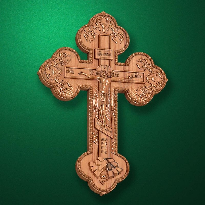 "Carved cross ""Cross Crucifix-004"""